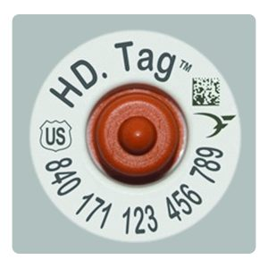 Destron Fearing Official USDA 840 Cattle HD Tag Set